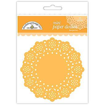 Doodlebug Design Tangerine Mini Doilies (75kpl) (4599)