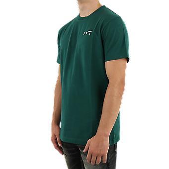 OFF WHITE Marker S/S Slim Tee Green OMAA027E20JER0015701 Top