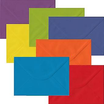 Regenboog Pack 105 C5 gegomd enveloppen-zeven verschillende kleuren