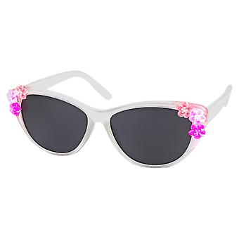 Sunglasses girl with flowers girl white