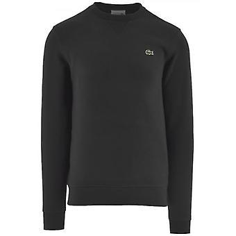 Lacoste Sport schwarz Baumwolle Mischung Fleece Sweatshirt