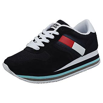 Tommy Jeans Retro Womens Casual Trainers in Midnight Navy