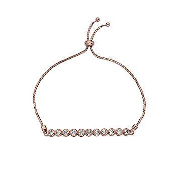 Emozioni Luminoso Large Rose Gold Plated Bracelet EB080