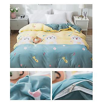dual-sided Duvet Cover  soft Comfortable Cotton Printing Comforter -textiles Quilt Cover set 2