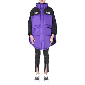 Mm6 X The North Face S62aa0034s53390382 Women's Black/purple Nylon Down Jacket