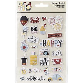 """Simple Stories Say Cheese 4 Puffy Stickers 4""""X6"""" 2/Pkg"""