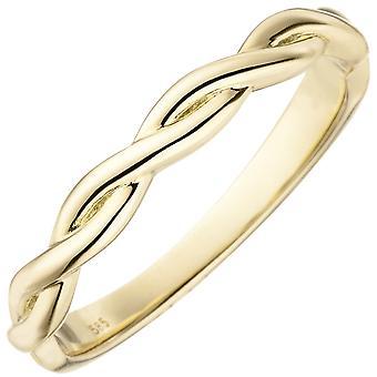 خاتم المرأة مضفر 585 الذهب الذهبي الذهب الذهبي خاتم الذهب