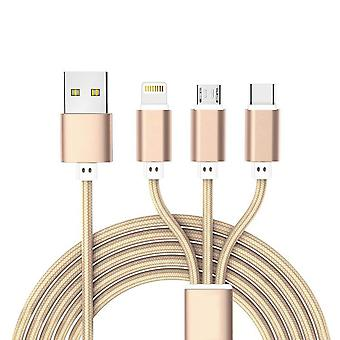 Charging Cable 3 in 1-gold