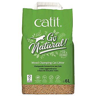 Catit Go Natural Wood Clumping Cat Litter 15Ltr
