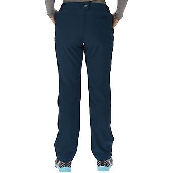 Regatta Womens Fenton Softshell Water Resistant Outdoor Walking Trousers - Navy