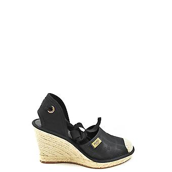 Fendi Ezbc009042 Women's Black Fabric Espadrilles