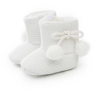 منتصف العجل حذاء دافئ مع عقدة فراشة لحديثي الولادة