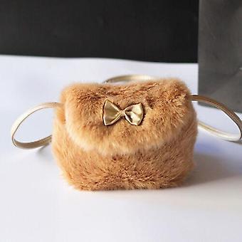 Girls Kids Purse Bowknot Mini Artificial Fur Handbags / Cross Body /children