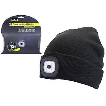Summit USB Rechargeable Beanie Hat - warm, outdoors, running, cycling, walk