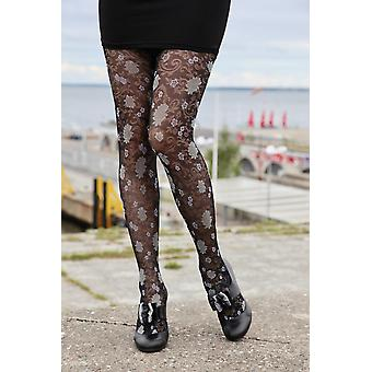 Tights With Floral Pattern