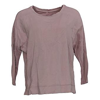 Zuda Women's Top Z-Knit Pullover With Slim Rib Sleeves Purple A374741
