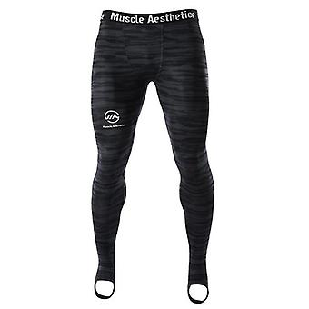 Men Compression Quick-dry Skinny Pants Gyms Fitness Workout Sportswear
