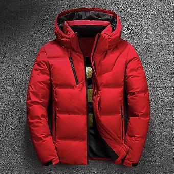 Winter Men's Jacket, Hooded Clothing Male Wadded Collar Overcoat