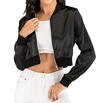 Women's Badalado Baseball Collar Cropped Jacket Umvel Sport Zip