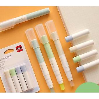 Portable  Pen Type Solid Glue Stick With Refill Set