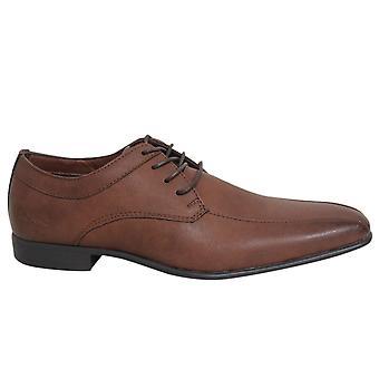 Ben Sherman Dudley Lace Up Mens Dark Tan Synthetic Smart Shoes BEN3159 076 B23A