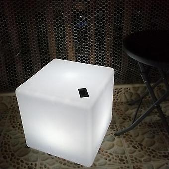 リードキューブスツールシート輝く椅子パティオ装飾照明家具付き