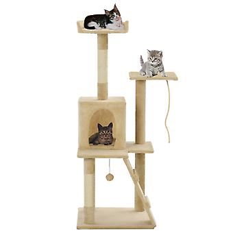 القط خدش شجرة سيزال 120 سم بيج