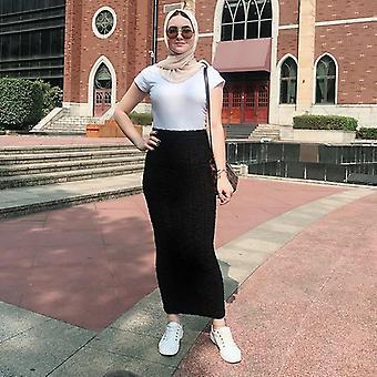 Knitted High Waist Maxi, Pencil Long Skirt, Longue Femme Skirts, Womens
