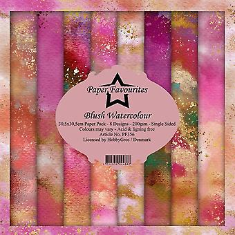 Paper Favourites Blush Watercolour 12x12 Inch Paper Pack