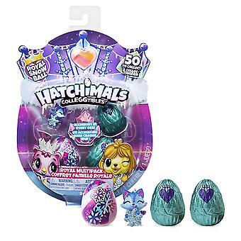 Hatchimals 6047212 colleggtibles, sæson 6, royal multipack med 4 hatchimals og tilbehør, for k