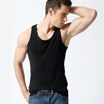 Sexy muži trička jednobarevné bavlněné spodní prádlo příležitostné top vesta košile slim