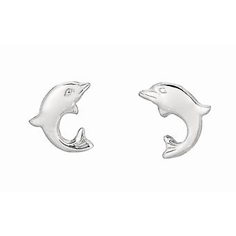 Sterling Silber Delphin Ohrstecker