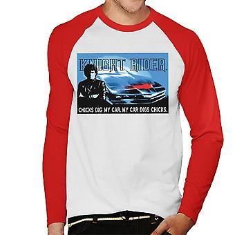 Knight Rider Chicks Gräva min bil män's Baseball Långärmad T-shirt