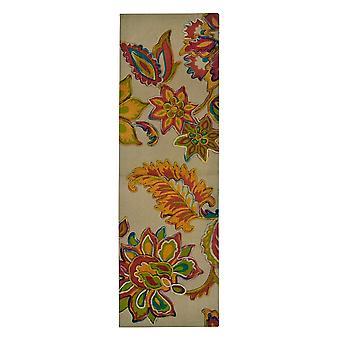 Spura Home Hand Dip festék filc virágos hímzés átmeneti runner 2x5 szőnyeg