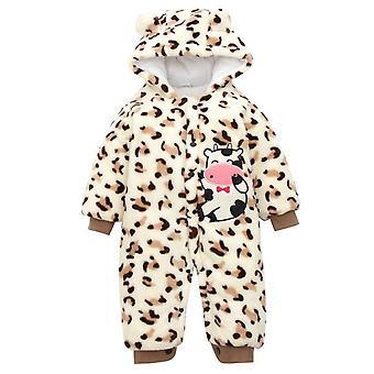 Vauva Potkuhousut Söpö Leopard Tulosta Hupullinen Haalari