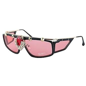 Ochelari de soare de moda Steak Punk Unisex Style Big Diamond Goggle Uv400