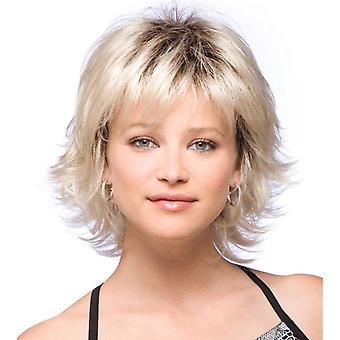 Brand Mall Wigs, Lace Wigs, Realistic Fluffy Short Hair Curly Hair Golden Personality Wigs