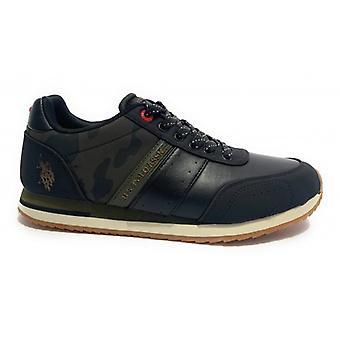 Running Us Polo Men's Sneaker Mod. Vance Ecopelle/ Ecosuede Nero/ Camouflage U20up18