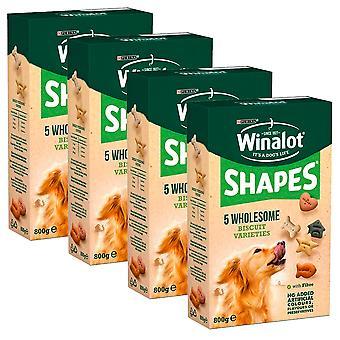 Hund Kekse 800g x 4 Pack Pack komplette Haustier Tasty Ausgewogenes Essen