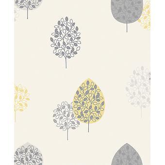 Tree Motif Rasch Wallpaper