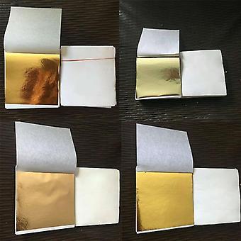 14cm Art Craft Paper Imitation Gold Silver Copper Leaf Leaves Sheets Foil Paper