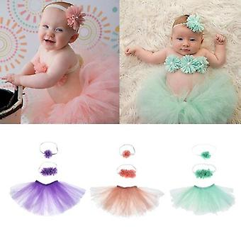 Baby Tutu Kleidung Rock Neugeborenen Kopfschmuck Blume