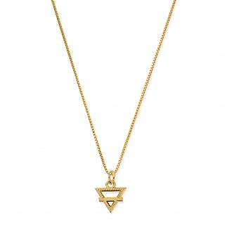 ChloBo Sterling Silver Gold Plated Delicate Box Chain Earth Necklace GNDB3105