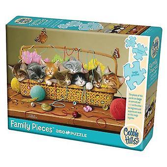 Cobble hill puzzle - caja de cesta - 350 pc