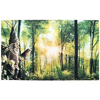 foot mat 45.4 x 75 cm PVC/polyester green