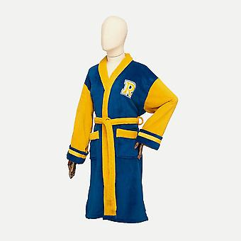 Riverdale Archie Bomber Blue and Yellow Hoodless Ladies Robe