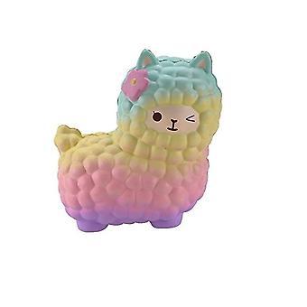 Rainbow Jumbo får långsam stigande klämma stress lättnad leksak