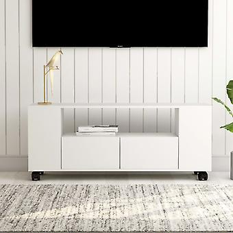 vidaXL armoire tv blanc 120x35x43 cm panneau de particules