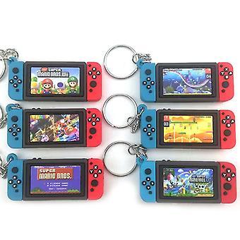Spillekonsol med switch nøglering Mario Game perifere nøglering Fashion Charm Soft Rubber PVC nøgleringe