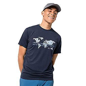 Jack Wolfskin Jwp World - Miesten t-paita, T-paita, 1807241, Midnight Blue, XXL